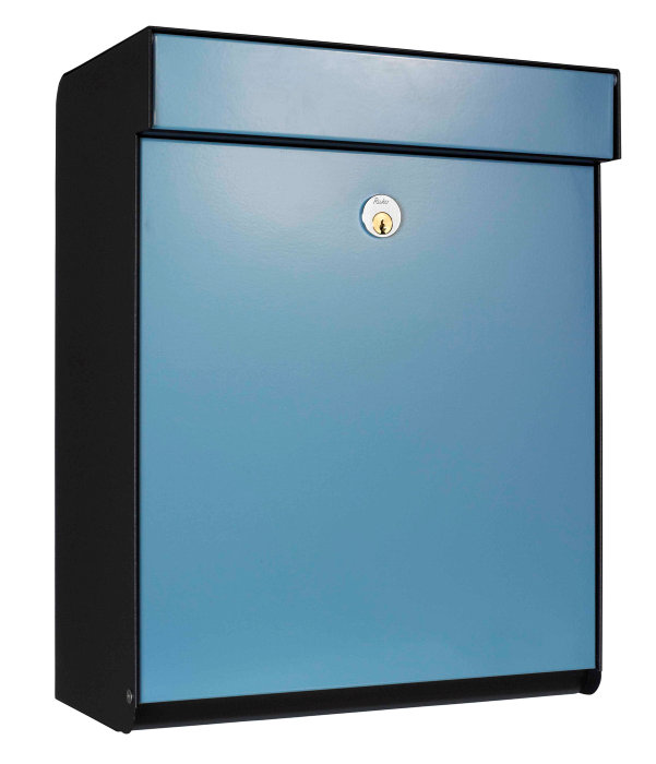 Allux postkasse Grundform - blå