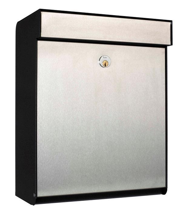 Allux postkasse Grundform – rustfri stål