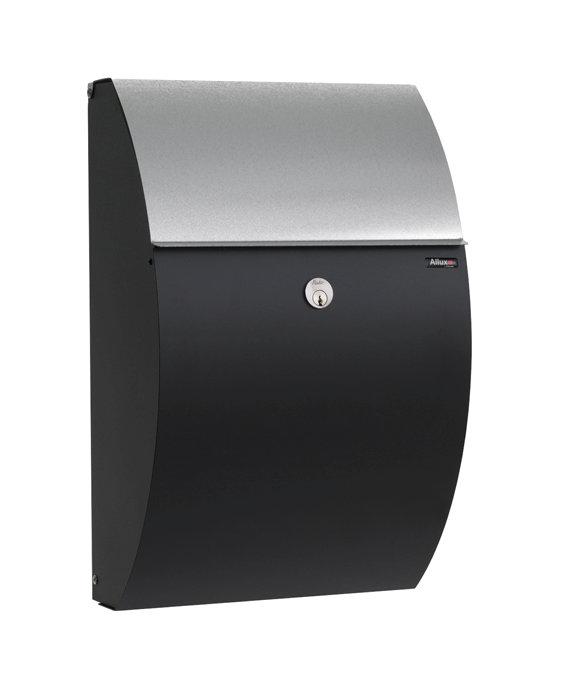 Allux postkasse 7000 – sort/galvaniseret