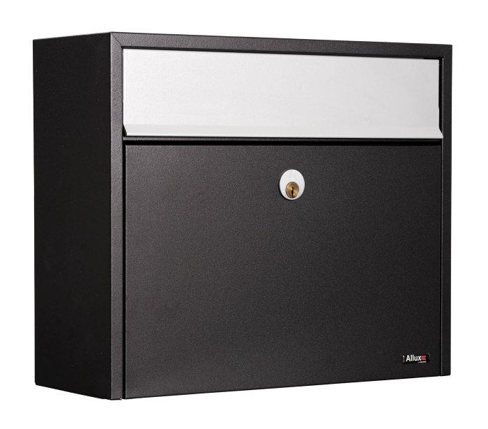 Allux postkasse LT150 - sort/grå