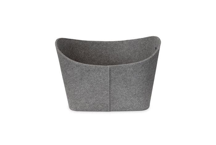 Varde filtkurv large - grå