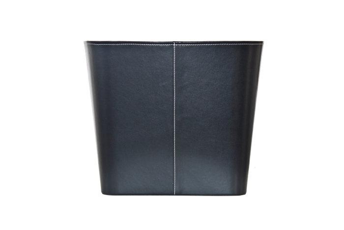 Varde kurv læderlook medium - sort