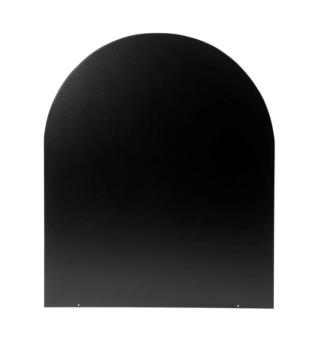 Varde gulvplade cirkelbue sort stål
