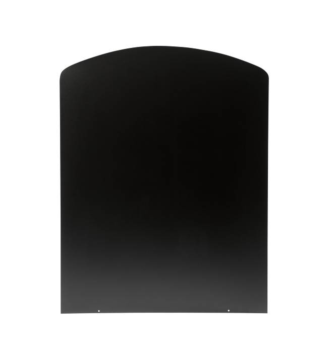 Varde gulvplade halvbue sort stål