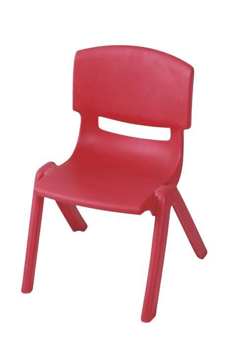 Børnestol i rød plast