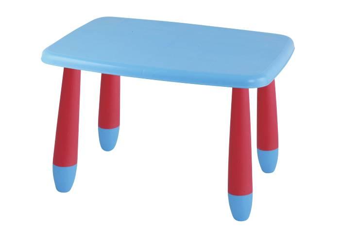Børnebord i rød/blå plast