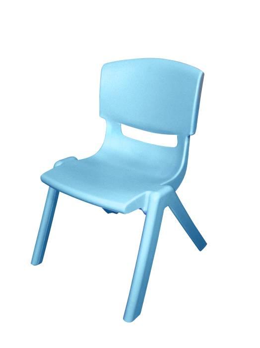 Børnestol i blå plast