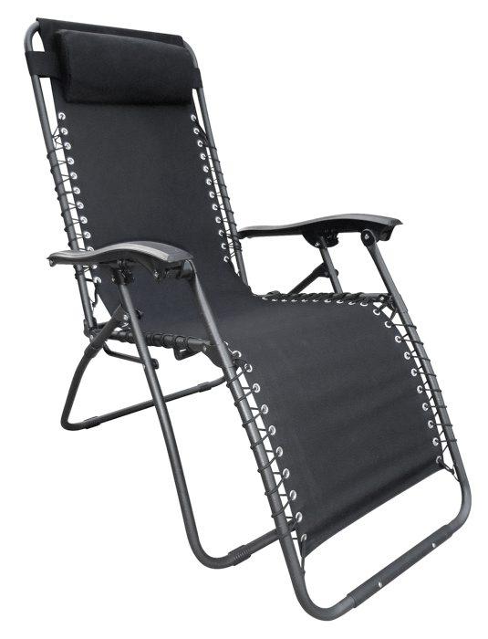 Relaxstol med fodstøtte og nakkepude