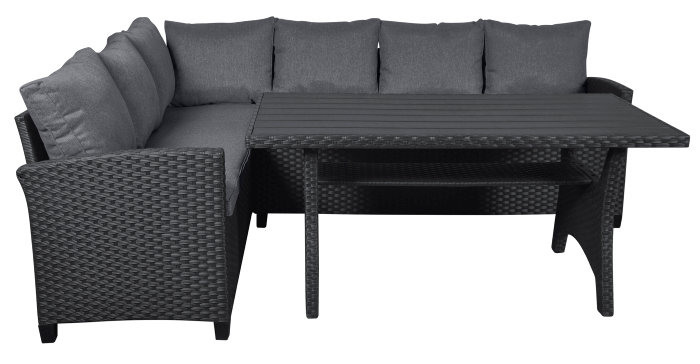 Sofa/diningsæt med bord og sofa