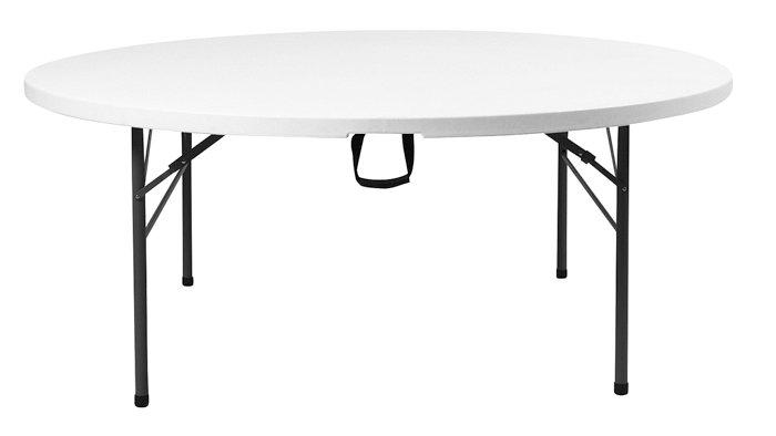 Foldebord - rundt - Ø122 cm