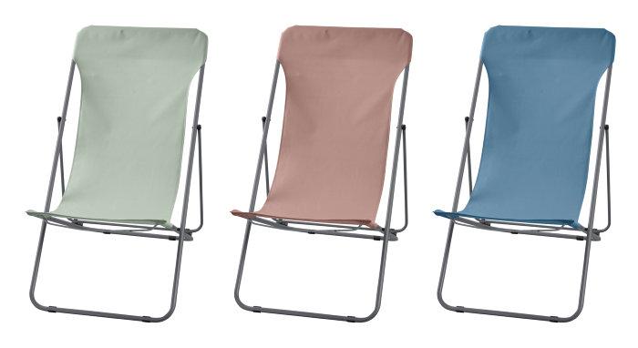 Strandstol - flere farver