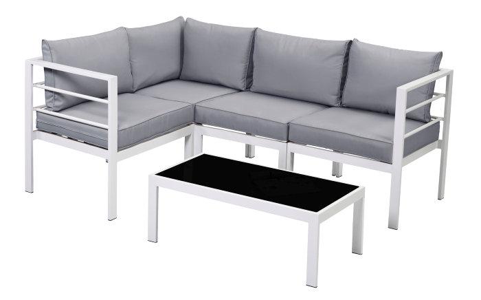 Loungesæt med sofa og glasbord