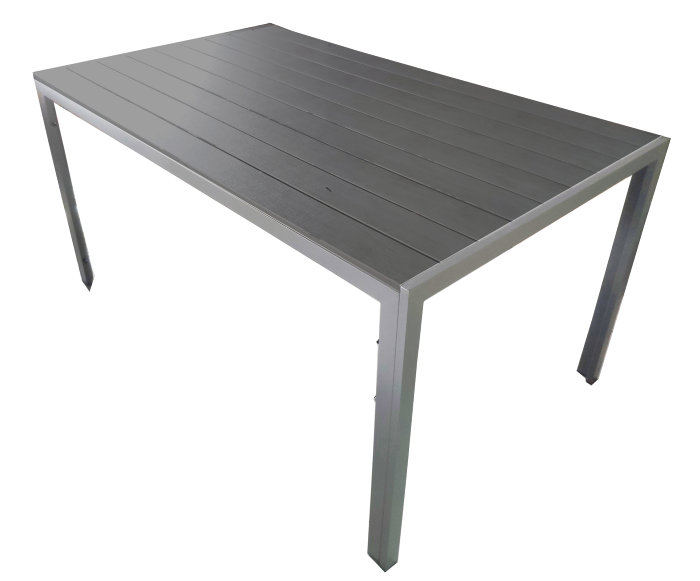 Havebord med polywood bordplade 205 x 90 cm