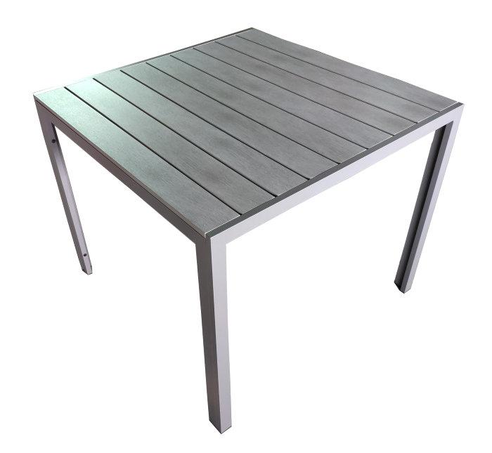 Havebord med polywood bordplade 90 x 90 cm