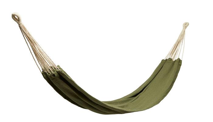 Hængekøje i grøn canvas