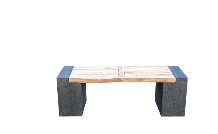 Bänk fiberbetong/acacia