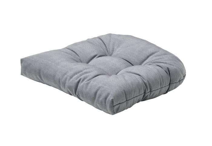 Sædehynde til rattan stol sølv 49 x 48 x 10 cm