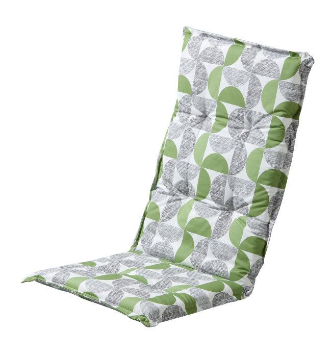 Sæde-/ryghynde til positionsstol – grønt mønster
