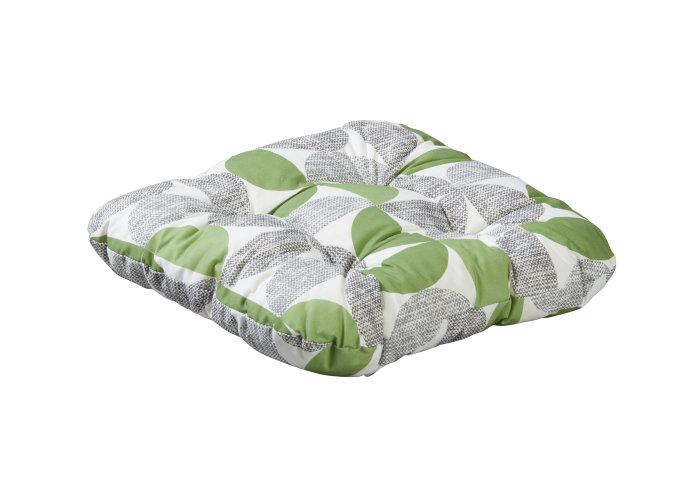 Setepute 38 x 38 x 8 cm -  grønt mønster