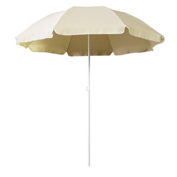 Parasol med tilt-funktion Ø200 cm beige