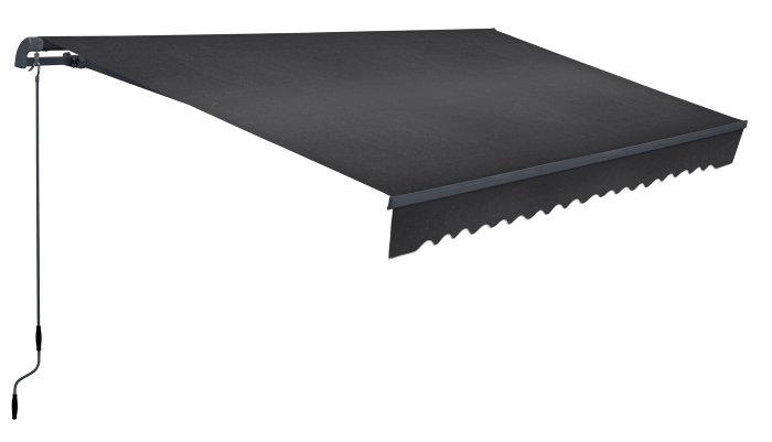Markise 3,95 x 2 m antracitgrå
