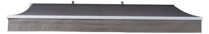 Markise manuel B290 x D250 cm hvid/taupe