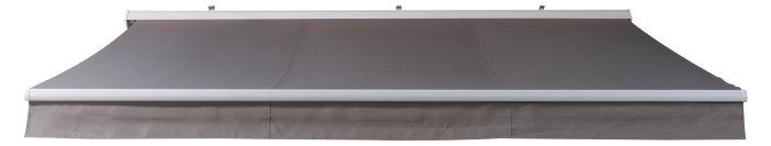 Markise manuel B350 x D300 cm hvid/taupe