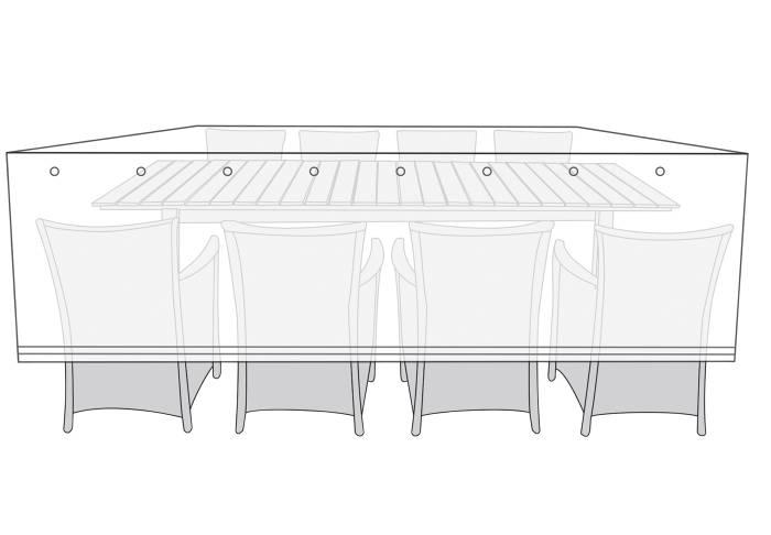 Overtræk havemøbelsæt L300 x B150 x H115 cm