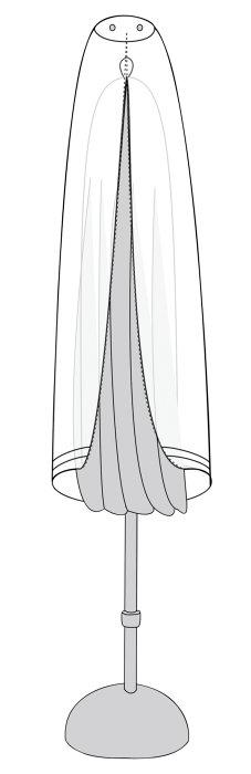Overtræk til markedsparasol gråt 230 cm