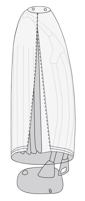 Overtræk til hængeparasol gråt 280 cm