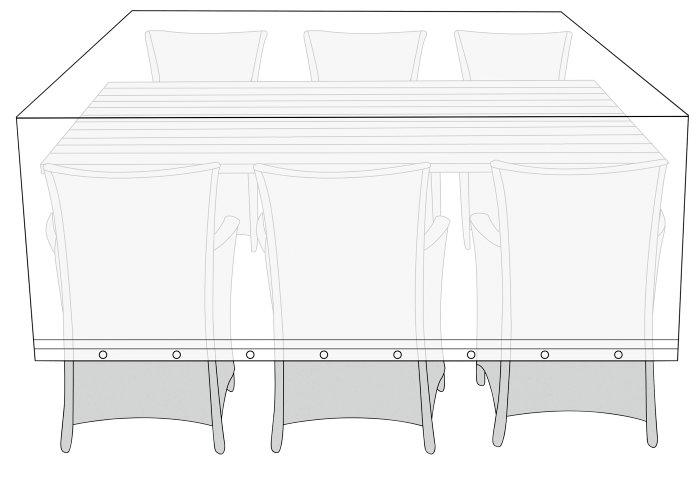 Overtræk til havemøbelsæt L220 x B130 x H85 cm - Sunlife
