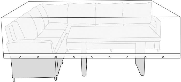Overtræk til loungemøbelsæt L300 x B145 x H100 cm - Sunlife