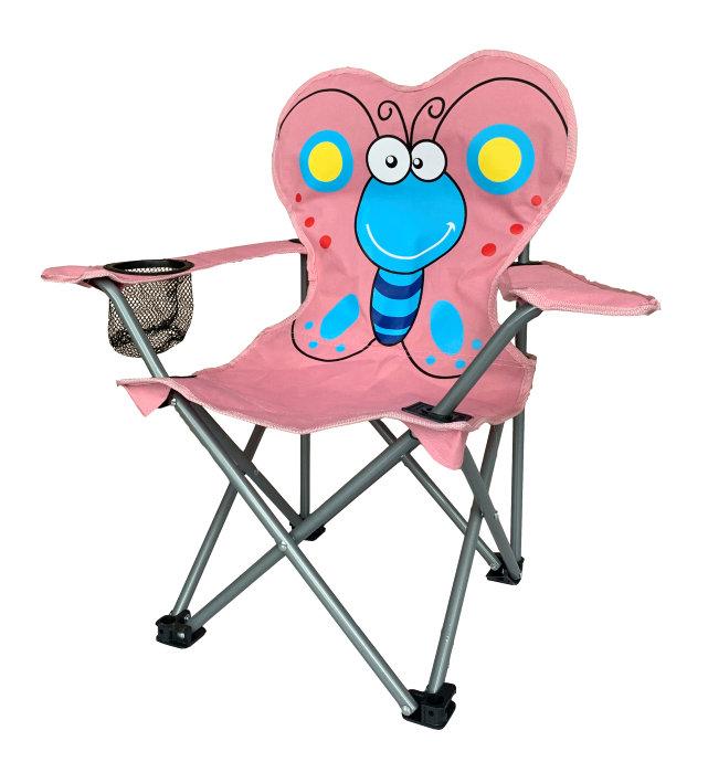 Børnecampingstol – sommerfugl