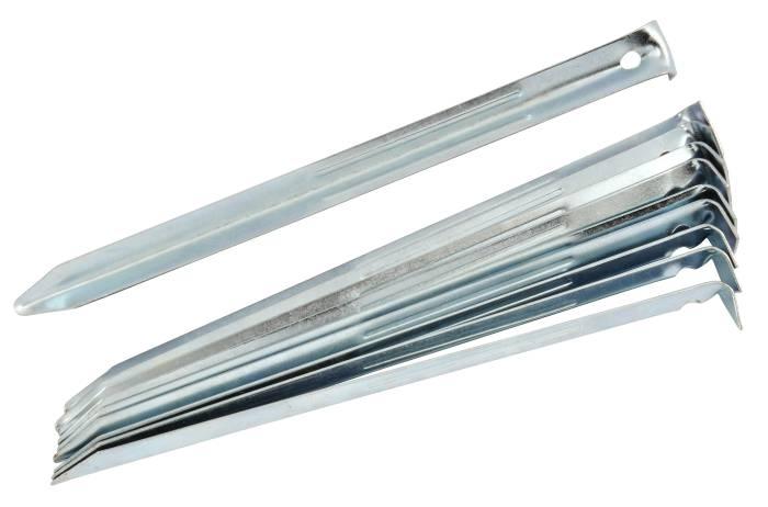 Pløkker i forzinket jern 10 stk. à 23 cm