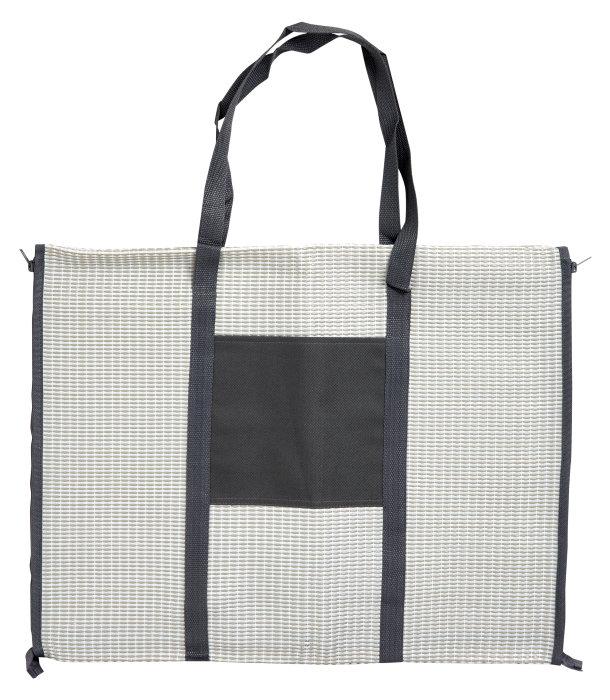 Strandmåtte/taske med hovedpude grå - Outfit