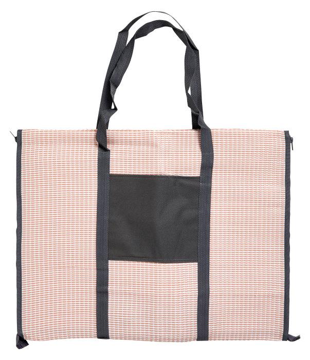 Strandmåtte/taske med hovedpude koral - Outfit