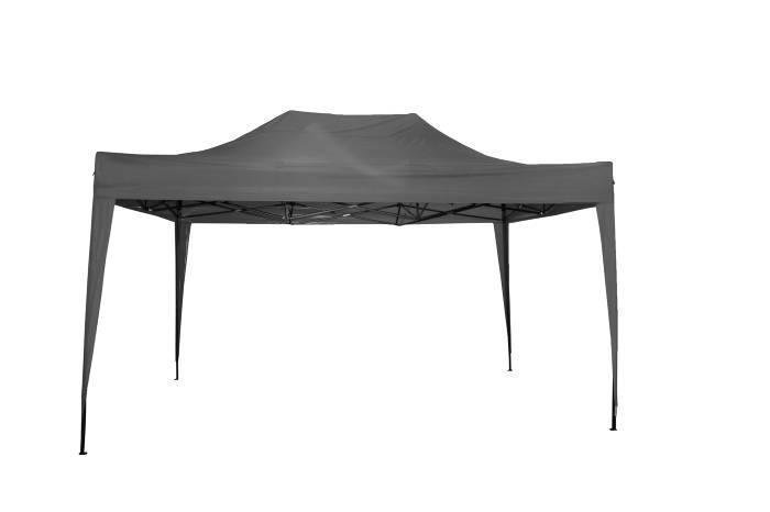 Easy up pavillon 3x4,5 m i grå metal og polyester