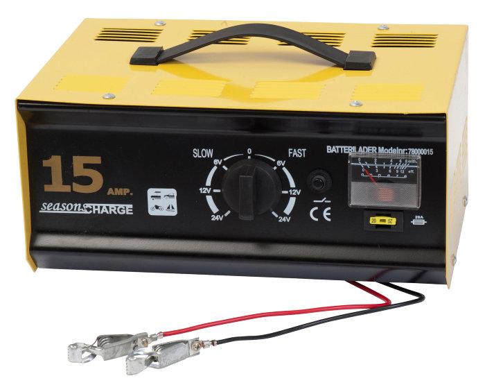 Batterilader til 6, 12 eller 24 V. 15 amp. 212 W.