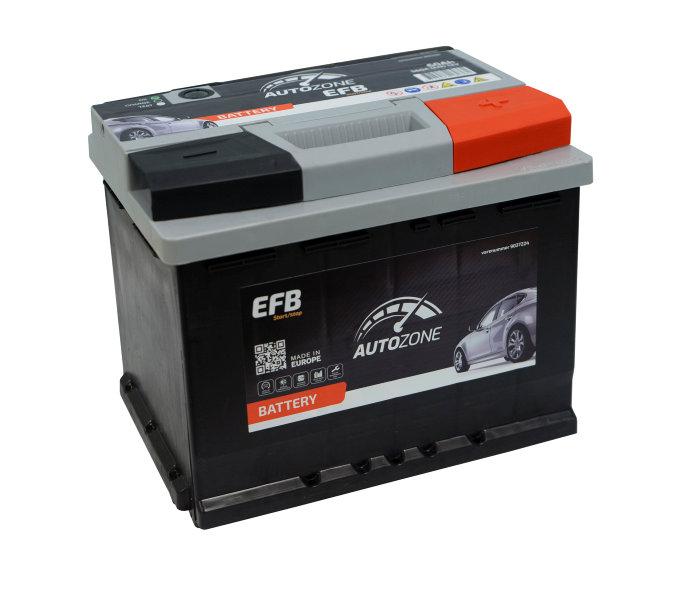 Autobatteri 12 V. 60Ah (+h). Start/stop.