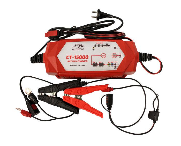 Batterilader 7,5-15A/12-24V - Autozone