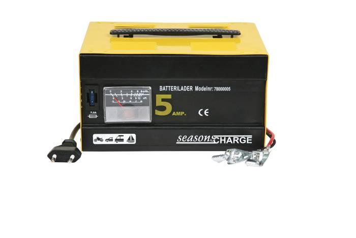 Batterilader 12 V. 5 amp. 65 W.