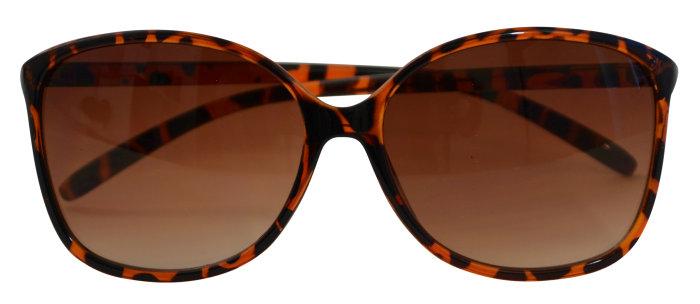 Solbrille leopard stel m/brunt glas