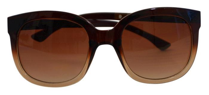 Solbrille dame brunt stel m/brunt glas