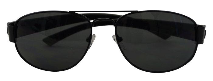 Solbrille herre sortmetal m/mørkt glas