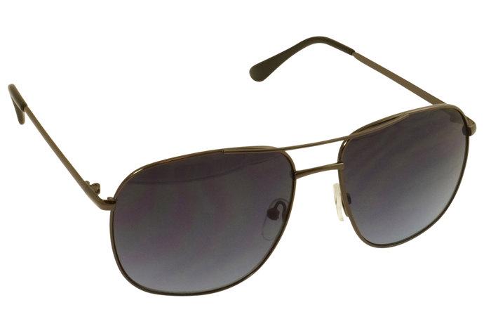 Solbrille sort metal stel