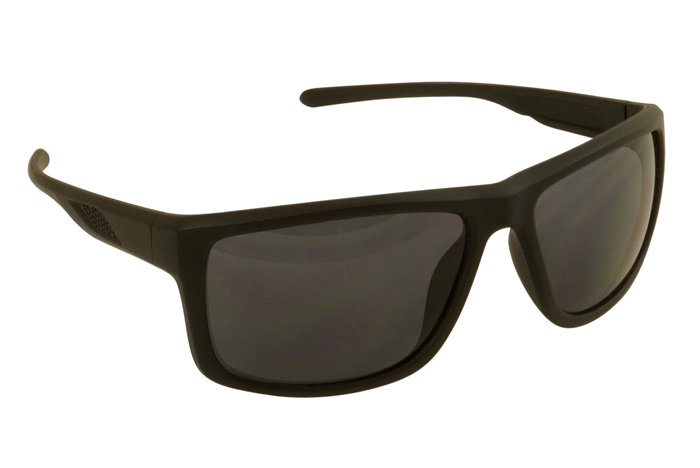 Solbriller matt svart med innfatning i plast - kantet