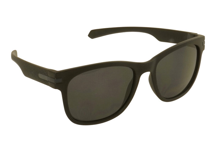Solbrille mat sort plast stel