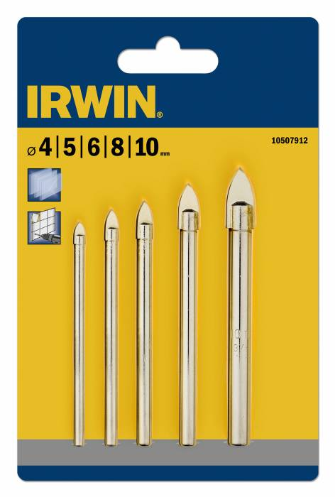 Kakel/glasborrsats 4-10 mm Irwin
