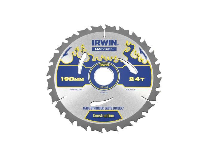 Irwin Weldtec Rundsavsklinge Ø: 190 mm - 24 tands
