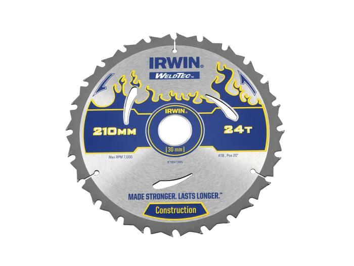 Irwin Weldtec Rundsavsklinge Ø: 210 mm - 24 tands